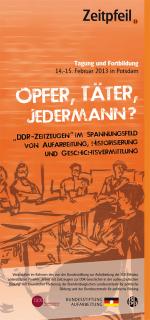 Flyer Zeitpfeil Zeitzeugen